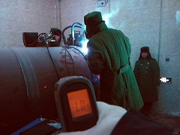 Xionggu Automatic Welding Machine in Service in Extreme Low Temperature
